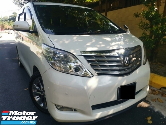 2009 TOYOTA ALPHARD 2009/2014 Toyota ALPHARD 2.4 FACELIFT (A) 2 POWER DOOR 1 OWNER