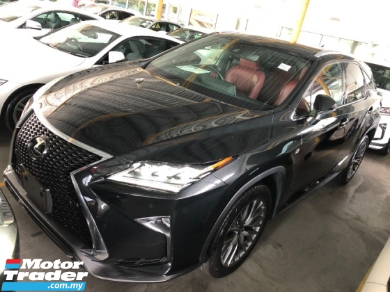 2018 LEXUS RX RX300 F Sport 2.0 Turbo Intelligent 3LED Panoramic Roof Memory Seat HUD PCS LKA BSM ICS Unreg