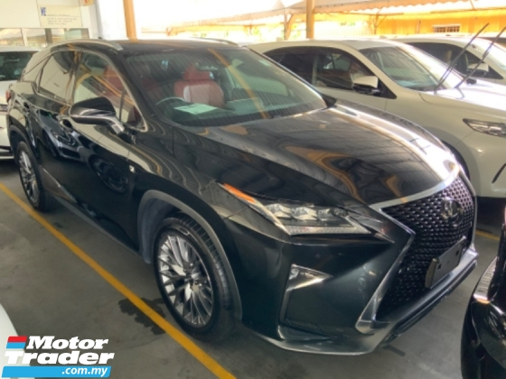 2018 LEXUS RX300 F sport Panoramic roof power boot 3 LED memory seat lane assist precrash system unregistered
