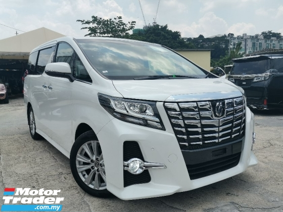 2015 TOYOTA ALPHARD 2.5 SA MPV SUNROOF/7 SEATS/2 POWER DOOR UNREG