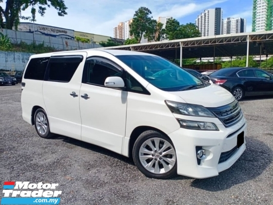 2010 TOYOTA VELLFIRE 2.4 Z (NEW FACELIFT) WORTH TO BUY
