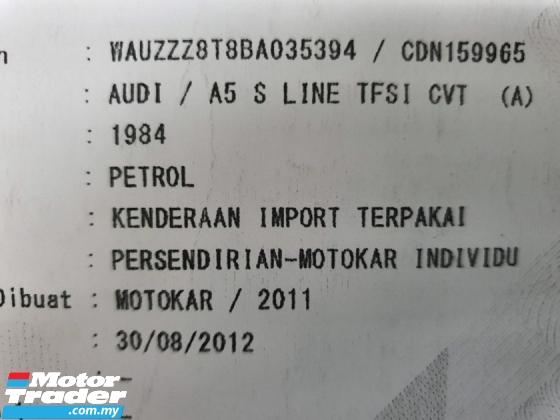 2011 AUDI A5 2.0 TFSI S-LINE Coupe Reg 12 (1 year warranty)