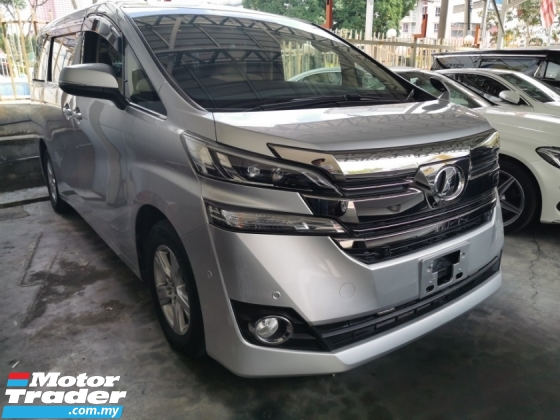 2015 TOYOTA VELLFIRE X 2.5 / 8 SEATER / 2 PWR DOORS / JBL HOME THEATER / COOL BOX
