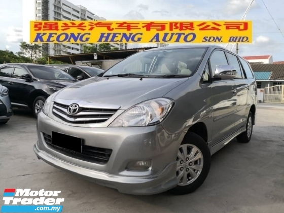 2011 TOYOTA INNOVA 2.0G TRUE YEAR MADE 2011 One Owner