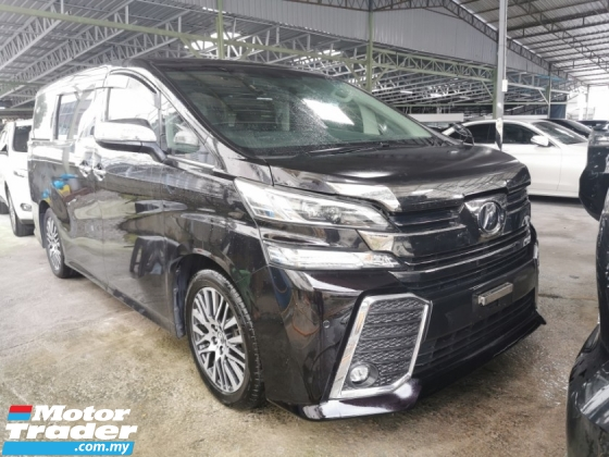 2015 TOYOTA VELLFIRE 2.5 ZG / TIPTOP CONDITION / FREE 5 YEARS WARRANTY UNLIMITED KM