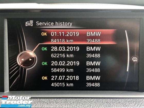 2016 BMW 3 SERIES F30 320I 2.0 M-SPORT (A) FACELIFT FUL SERVICE RECO