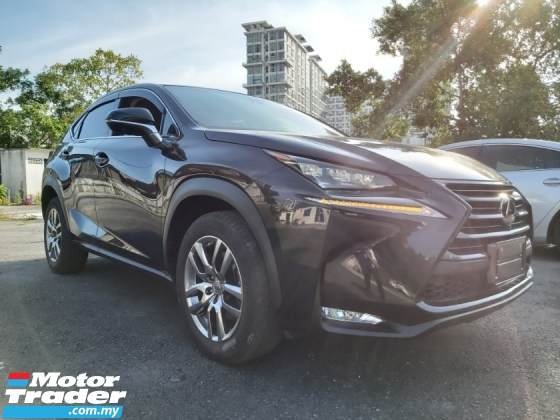 2017 LEXUS NX 200 NX200 2.0 TURBO 2017 BSM PRE CRASH POWER BOOT HIGH SPEC