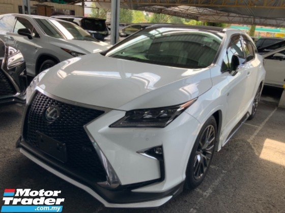 2017 LEXUS RX 200t F Sport package Panoramic roof surround camera power boot unregistered