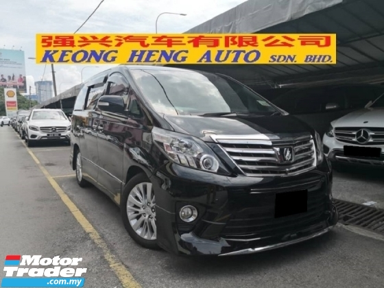 2012 TOYOTA ALPHARD 3.5 SC (FREE 2 YRS WARRANTY) TRUE YR MADE 2012 New Facelift Home Theater Modelister Kit Coolbox 2013