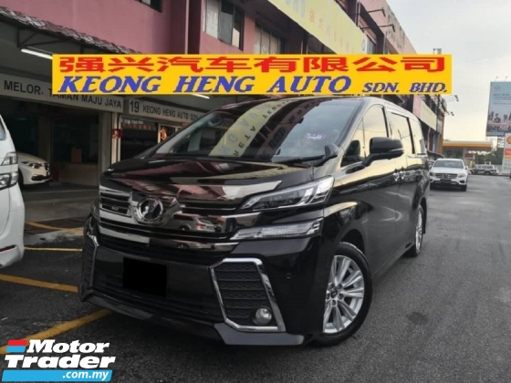2015 TOYOTA VELLFIRE 2.5 New Model (( FREE 2 YRS WARRANTY )) 2015 ZA Spec 7 Seat 2 Power Door Power Boot 360 View Cameras