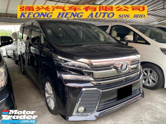 2015 TOYOTA VELLFIRE 2.5(A) ZA Reg 2018 7Seater 2Power Doors Power Boot
