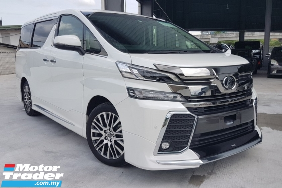 2016 TOYOTA VELLFIRE 2.5 ZG Sun Roof PreCrash Power Boot ModelistaBodyKit Unregister Offer