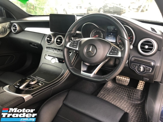2016 MERCEDES-BENZ C-CLASS C300 AMG Premium Coupe 2.0 Turbo 9G-Tronic 241HP Fully Loaded Panoramic Roof Burmester 3D Surround