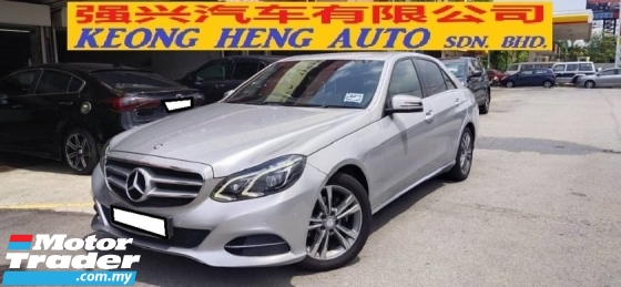 2013 MERCEDES-BENZ E-CLASS E200 CGI 2.0cc (A) FREE 2 YEAR CAR WARRANTY