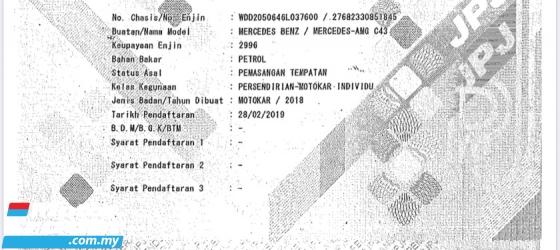 2018 MERCEDES-BENZ C-CLASS C43 30k KM DONE MUST VIEW