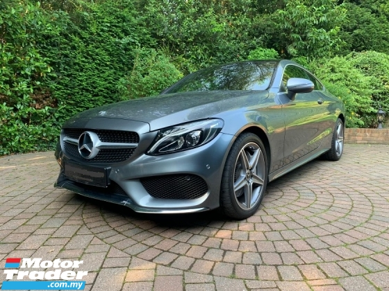 2017 MERCEDES-BENZ C-CLASS C300AMG Coupe Premium Panaromic Roof Power Boot Red Leather UK Unregister