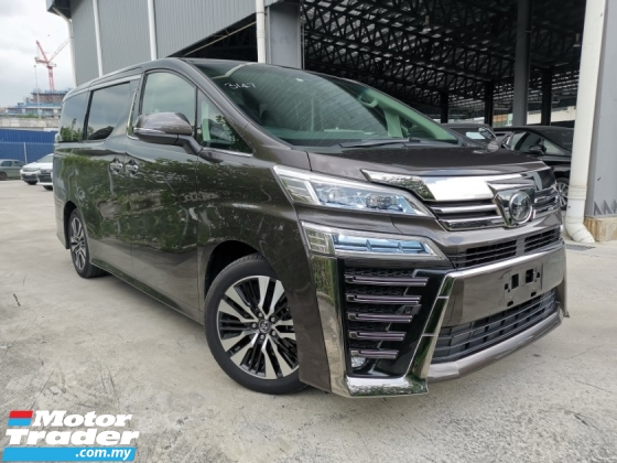 2019 TOYOTA VELLFIRE 2.5 ZG GRAPHITE BROWN SUNROOF OFFER UNREG