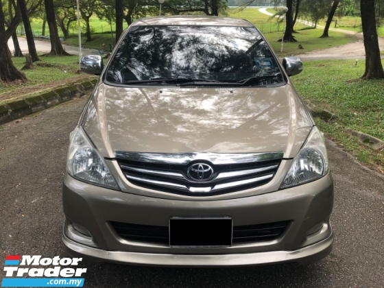 2010 TOYOTA INNOVA 2.0 G FACELIFT (A) 1 OWNER [SELL BELOW MARKET]