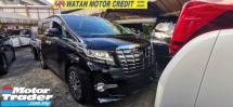 2016 TOYOTA ALPHARD 2.5 SC UNREGIS.TRUE YEAR MADE CAN PROVE.LESS 50 SST.3 POWER DRS N BOOT.PILOT SEAT.SUNROOF.360 CAMERA