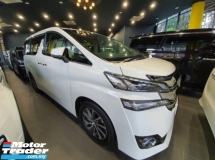 2016 TOYOTA VELLFIRE 2.5 V SPEC (A) JBL FULL SPEC WITH SST