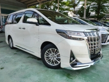 2018 TOYOTA ALPHARD 3.5 GF JBL Home Theatre 4Cam Leather High Spec Unreg Offer