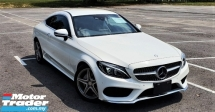2016 MERCEDES-BENZ C-CLASS 2016 MERCEDES C180 1.6 AMG COUPE SPEC ORIGINAL FROM JAPAN UNREG 5 DYNAMIC MODE 3 DOOR