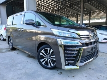 2018 TOYOTA VELLFIRE 2.5 ZG Sun Roof PreCrash LTA Leather PBoot Unregister Offer