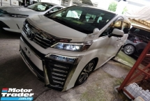 2018 TOYOTA VELLFIRE 2.5 ZG 3 LED FACELIFT SUNROOF PRE CRASH LANE ASSIST ANDROID PLAYER SST 50 OFFER NAPPA LEATHER 18 UNR