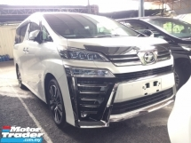 2018 TOYOTA VELLFIRE 2.5 ZG FACELIFT.UNREGISTER.LESS 50 SST.TRUE YEAR CAN PROVE.SUNROOF.3 EYE LED.PILOT SEAT.LEATHER ETC