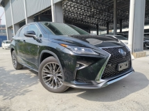 2017 LEXUS RX 200T F SPORT 4CAM HUD BSM BLACK LEATHER UNREG