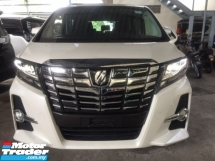 2017 TOYOTA ALPHARD 2.5 SA S UNREGISTER.LESS 50 SST.TRUE YEAR CAN PROVE.7 SEATS.3 POWER DRS N BOOT.PRE CRASH.360 CAMERA.