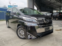 2018 TOYOTA VELLFIRE 2.5 V BLACK POWERBOOT DIM 3LED LEATHER UNREG