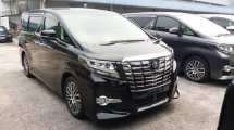 2015 TOYOTA ALPHARD 2.5 SC Basic Spec With Alpine Set & Front Rear Cam