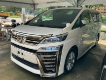 2018 TOYOTA VELLFIRE 2.5 Z sunroof precrash surround camera power boot unregistered