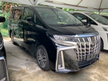2018 TOYOTA ALPHARD 2.5 SA facelift surround camera power boot 7 seater unregistered