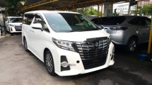 2017 TOYOTA ALPHARD 2.5 SC WITH SUNROOF & PRECRASH SPEC & ALPINE SET