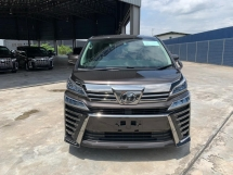 2018 TOYOTA VELLFIRE 2.5 ZG WITH LTA LEATHER /PRECRASH/POWER BOOT