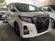 2017 TOYOTA ALPHARD 2.5 SC sunroof surround camera power boot pilot seathigh spec unregistered