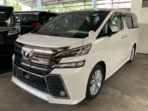 2016 TOYOTA VELLFIRE 2.5 Z 4 camera power boot 7 seaters 2 power door push start unregistered