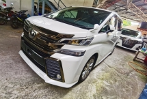 2017 TOYOTA VELLFIRE 2.5 GOLDEN EYE SUNROOF 4 CAMERA POWER BOOTH ALL BLACK INTERIOR SEMI LEATHER 2017 JAPAN UNREG GMR