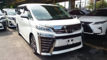 2018 TOYOTA VELLFIRE 2.5 ZG PREMIUM SPEC JBL & AUTO PARKING ASSIST