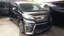 2018 TOYOTA VELLFIRE 2.5 ZG WITH SUNROOF/ 3LED/DIM/FRONT ALPIONE MONITO