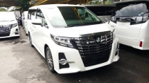 2016 TOYOTA ALPHARD 2.5 SC BASIC SPEC PCS & ALPINE SET