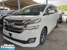 2017 TOYOTA VELLFIRE 2.5 V 8 Seater Unregister 2 Year Warranty