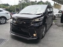 2017 TOYOTA VELLFIRE 2.5 Golden Eyes Modelista Bodykit INC SST 2 YEARS WARRANTY 360 Cameras Japan Unreg