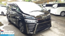 2018 TOYOTA VELLFIRE 2.5 ZG SUNROOF/ 3 LED/DIM/ALPINE SET