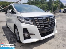 2017 TOYOTA ALPHARD 2.5 CVT SA PACKAGE TYPE BLACK SUNROOF UNREGISTERED
