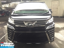 2018 TOYOTA VELLFIRE 2.5 ZA UNREG.HALF SST.7 SEATS.3 POWER DRS N BOOT.PRE CRASH.LED LIGHT.360 CAMERA N ETC.FREE WARRANTY