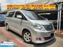 2014 TOYOTA ALPHARD 2.4 X MODEL (FREE 2 YEARS CAR WARRANTY)