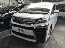 2018 TOYOTA VELLFIRE 2.5 Z A Alpine Media 360 Cameras Pre Crash Lane Keeping Assist Power Boot INC SST Unreg Japan